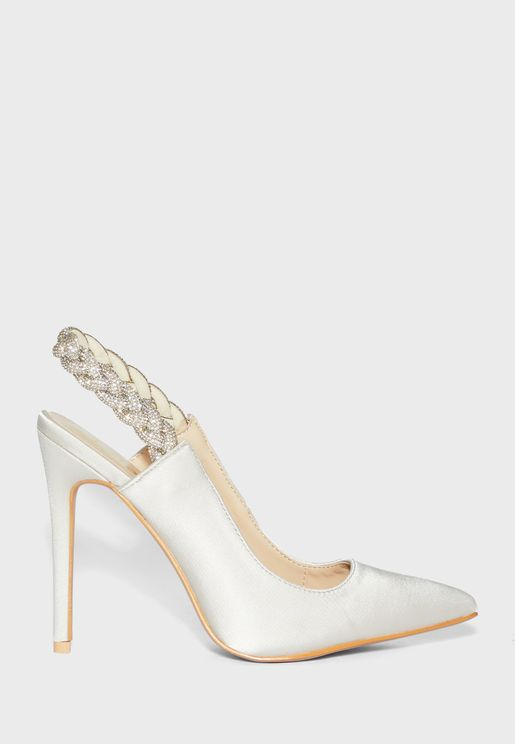 Embellished Braided Detail Pointed Stiletto