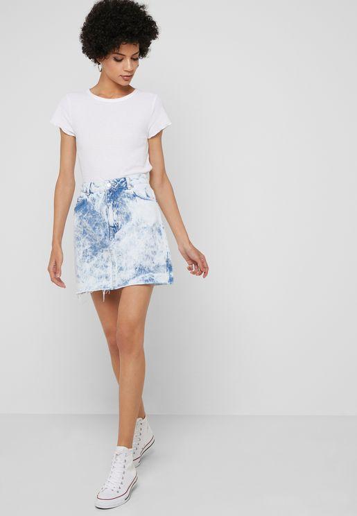 e1e270b5ffe Light Wash Denim Mini Skirt