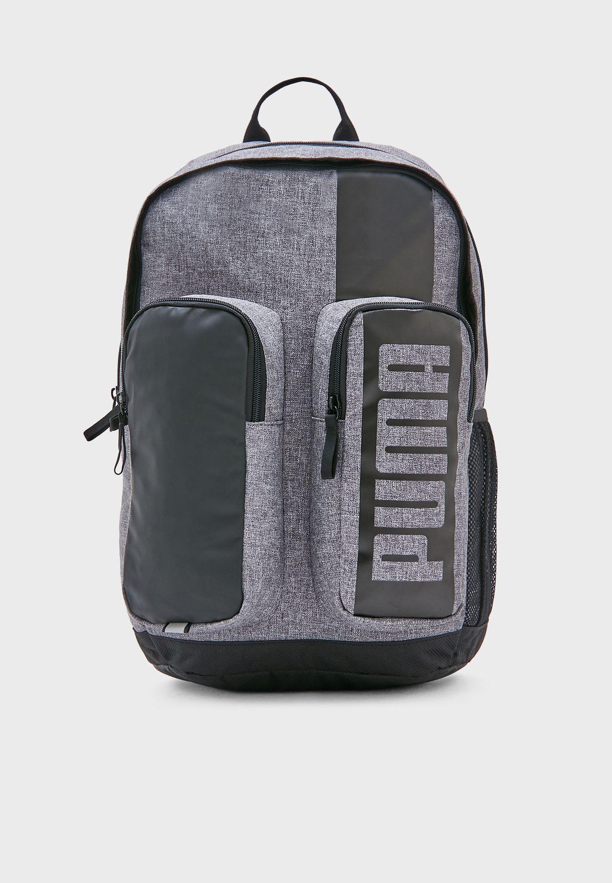 f125ec4bf6 Shop PUMA grey Medium Deck II Backpack 7575907 for Men in UAE ...