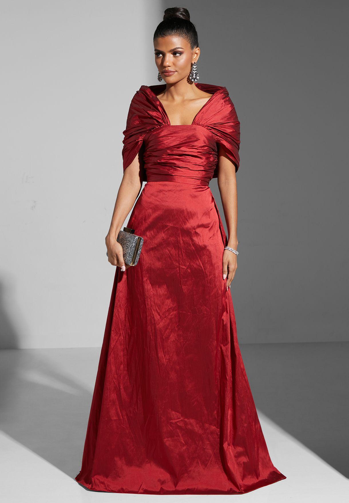 Gathered Shoulder Dress