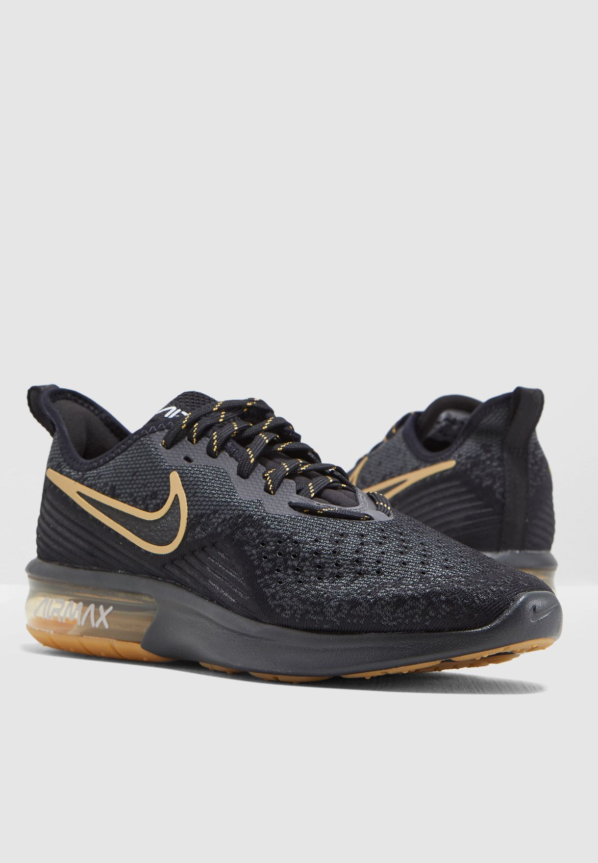 promo code 51141 5c479 Shop Nike black Air Max Sequent 4 AO4485-005 for Men in Saudi - 72704SH77KWP