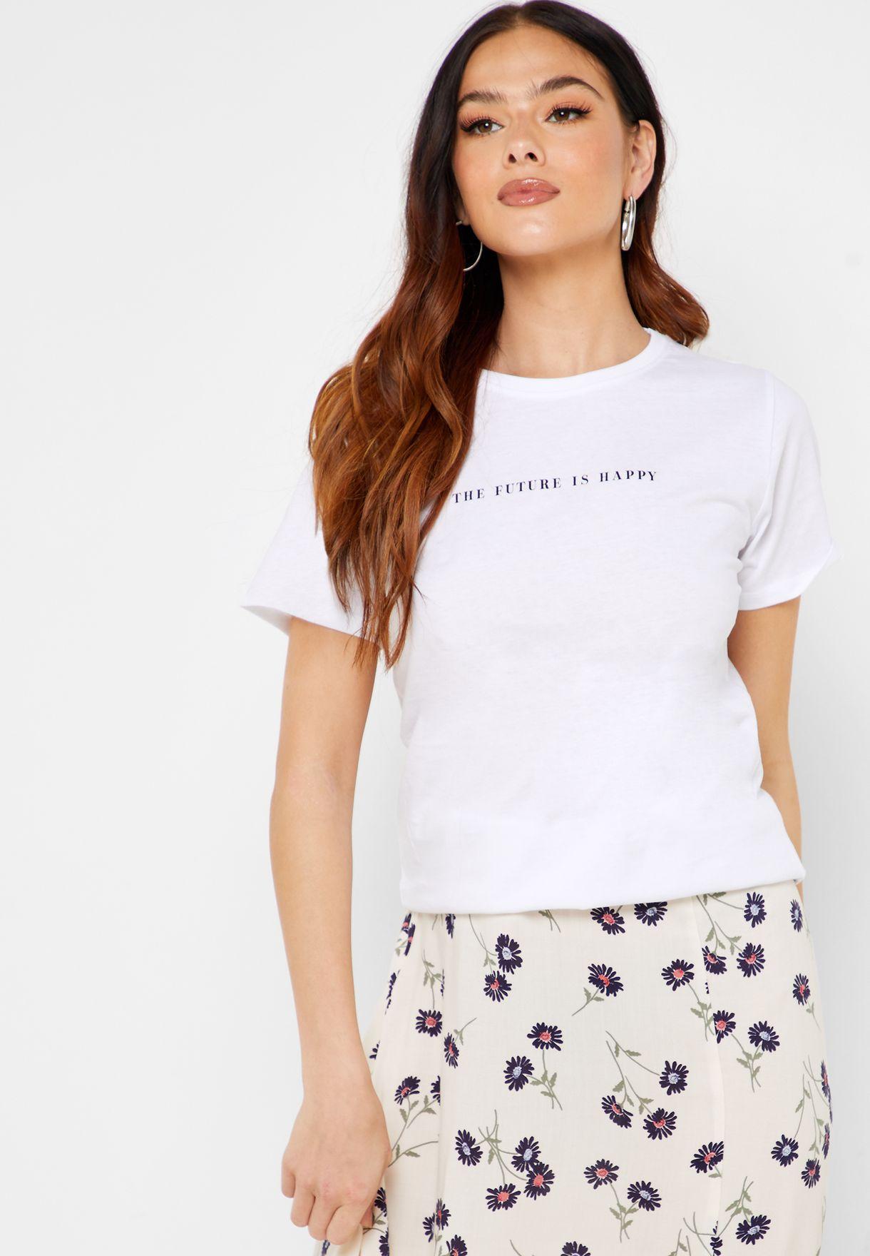 Minimalist Slogan T-Shirt