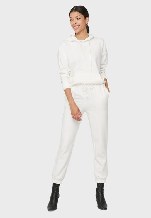 Ruched Waist Cuffed Sweatpants