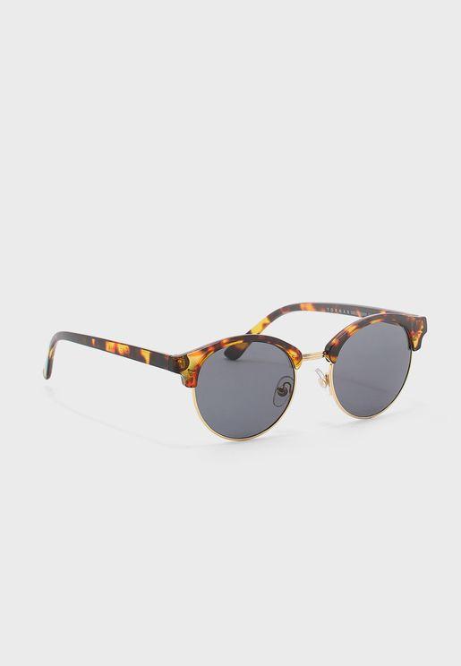Tortoiseshell Clubmaster Sunglasses