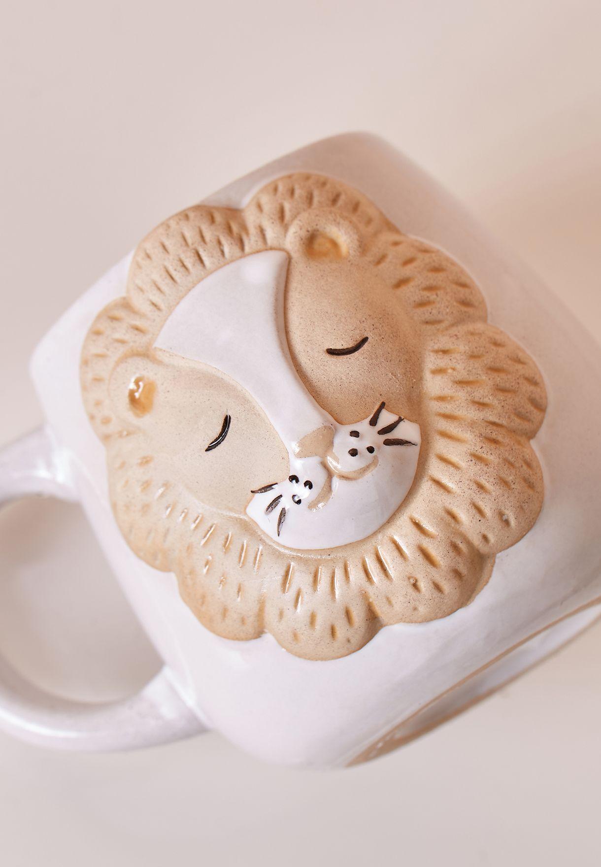 Leo Lion Print Mug