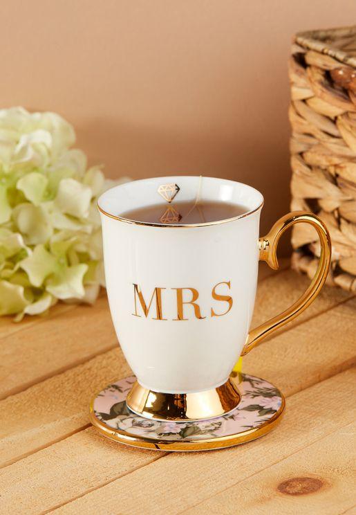 Mrs Initial Mug