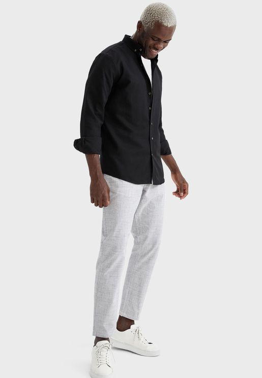Drawstring Relaxed Fit Trousers
