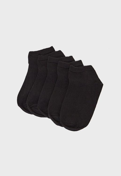 5 Pack Plain Trainer Socks