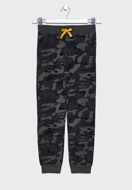 Kids Camo Sweatpants