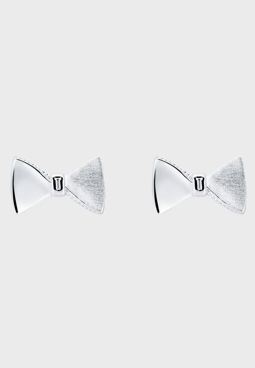 Tayal Tux Bow Stud Earrings