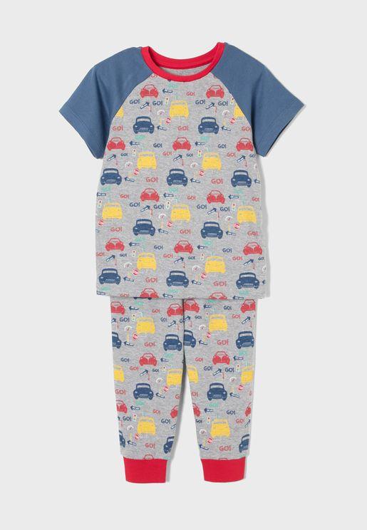 Kids Car Print Pyjama Set