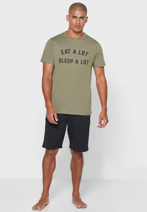 Eat a Lot Sleep a Lot Nightwear Set
