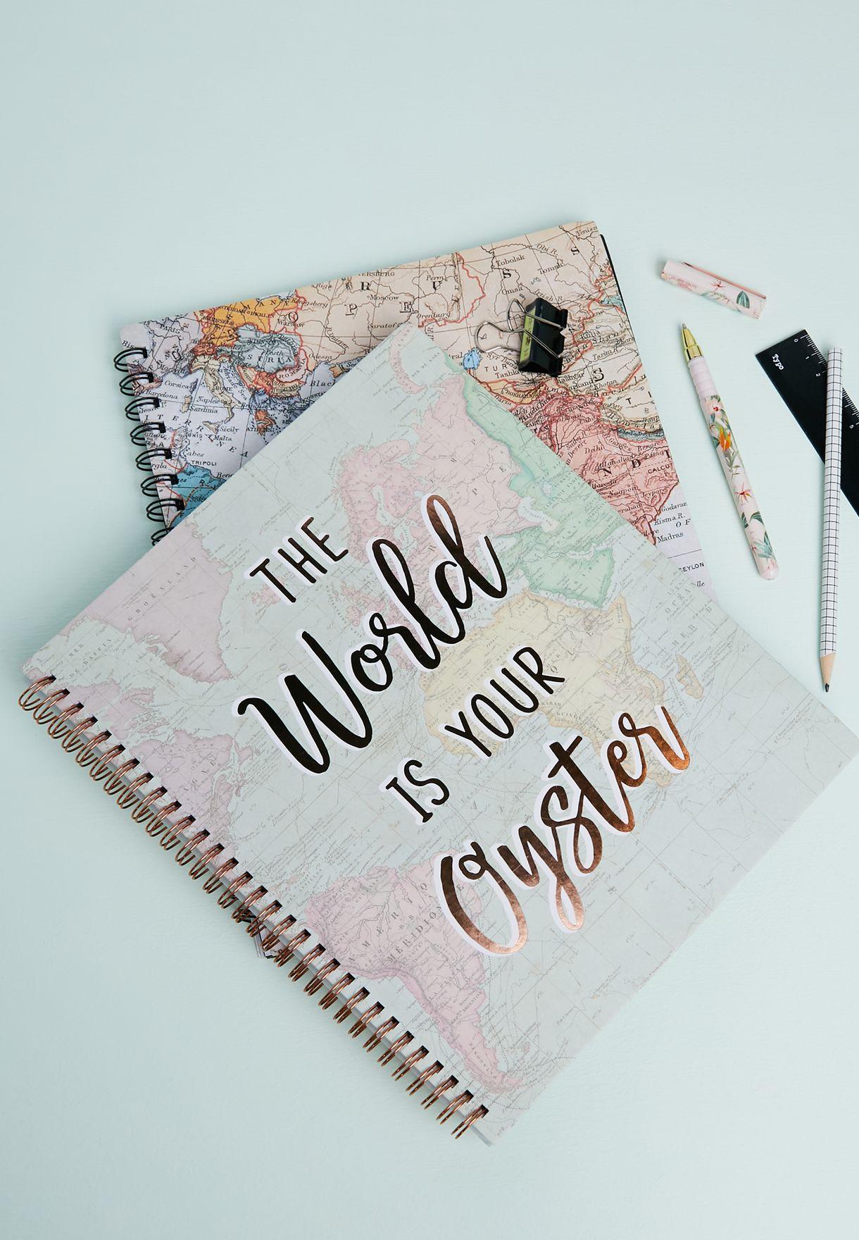 World Explorer A4 Notebook