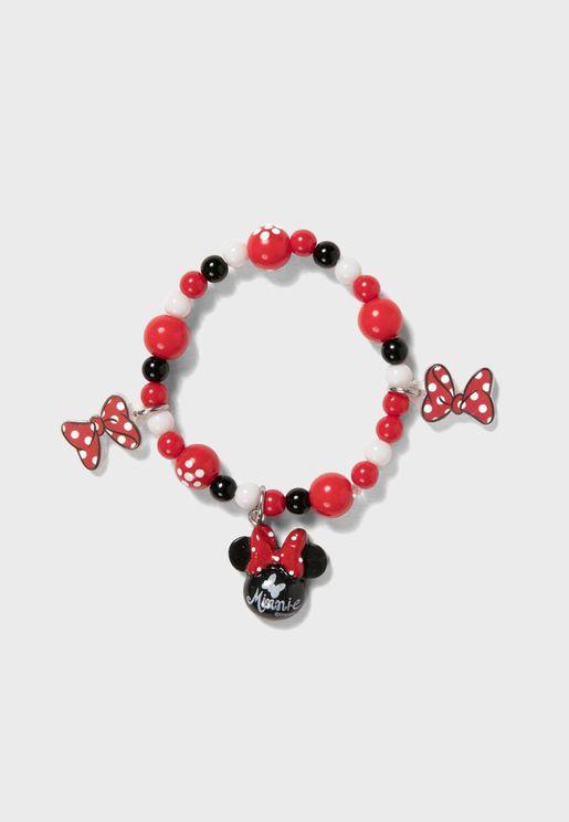 Kids Mickey Mouse Beaded Bracelet