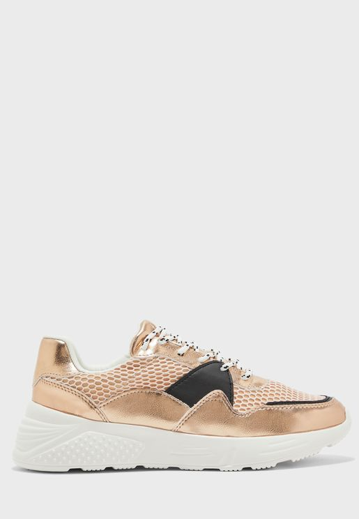 Chunky Low-Top Sneaker - Blush