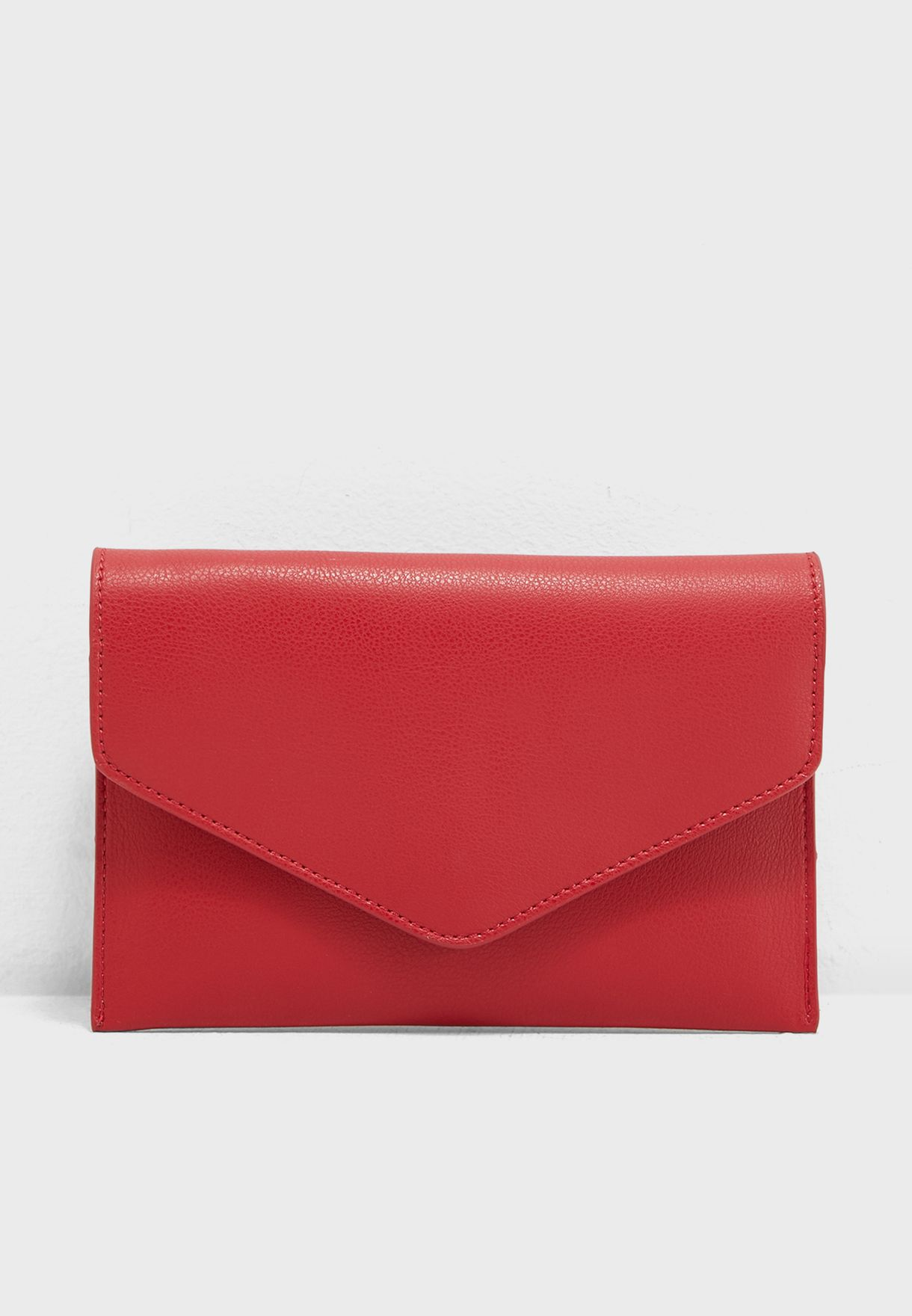237e95e2c53 Shop Forever 21 red Faux Leather Envelope waistbag 333754 for Women in Qatar  - 20008AC77AQP