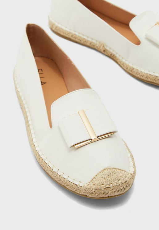 Flat Espadrille with Bow detail