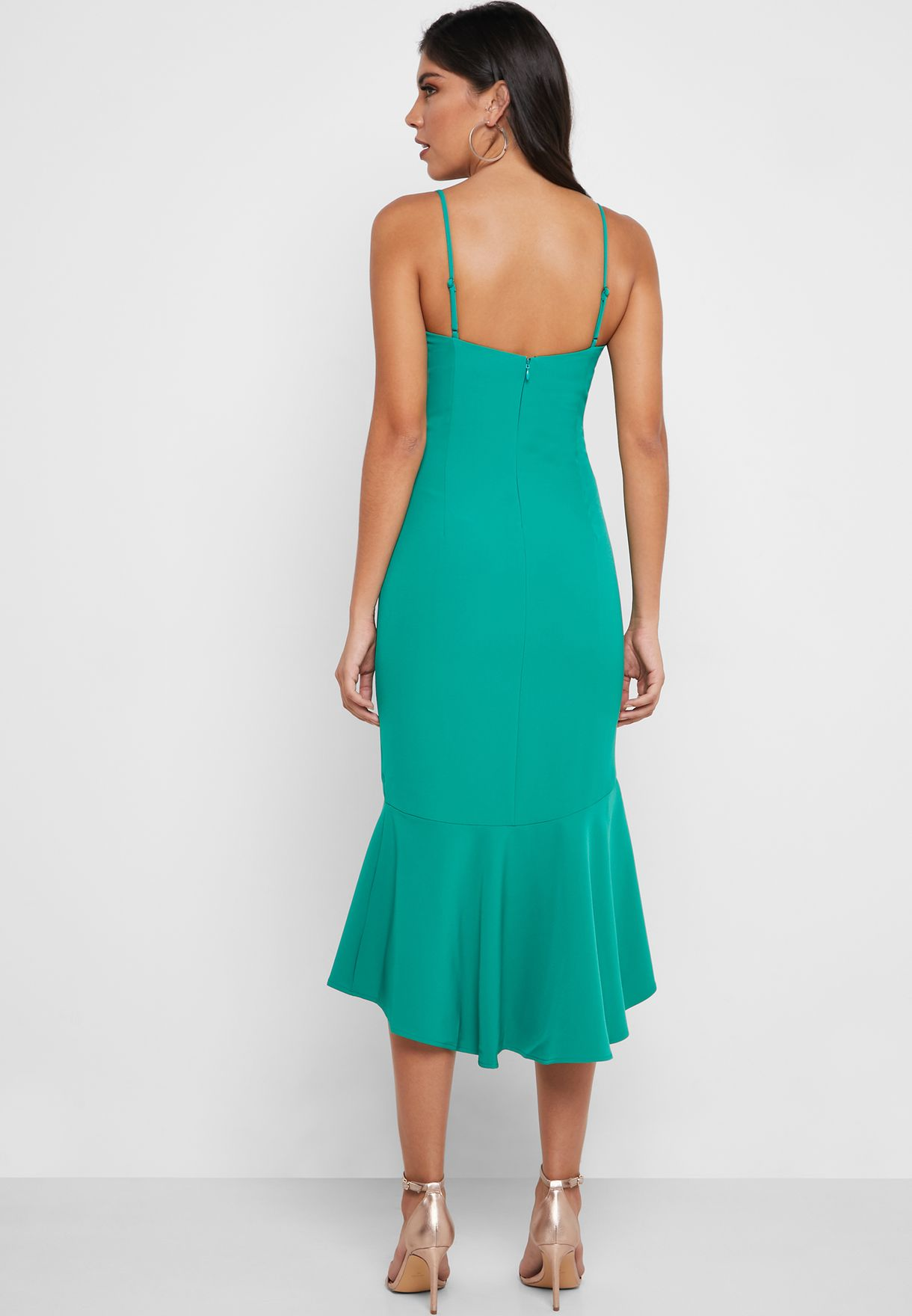 High Low Fishtail Dress