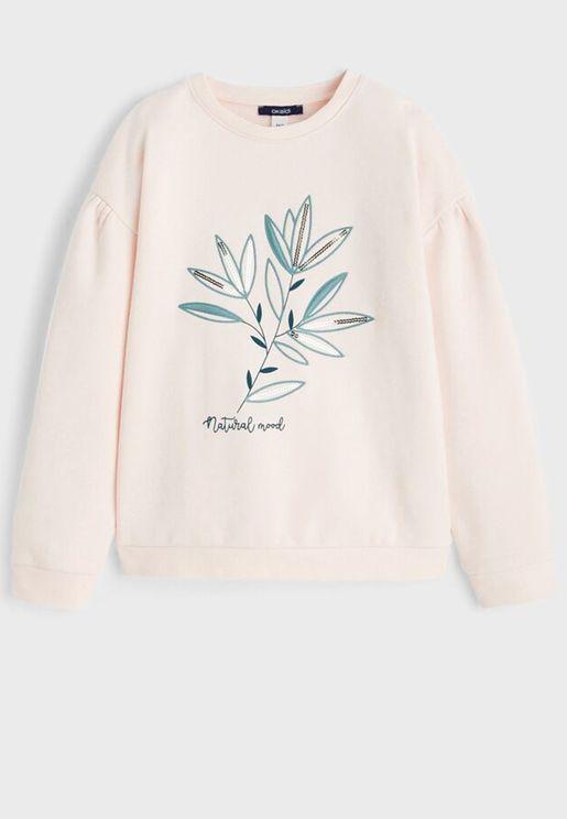 Kids Embroidered Sweatshirt