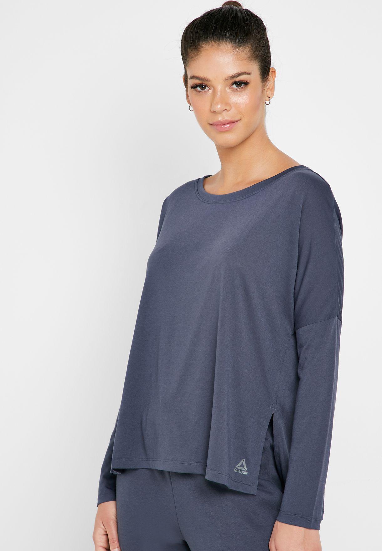 885ad74e98fa Shop Reebok navy Workout Ready Supremium T-Shirt EC2261 for Women in ...