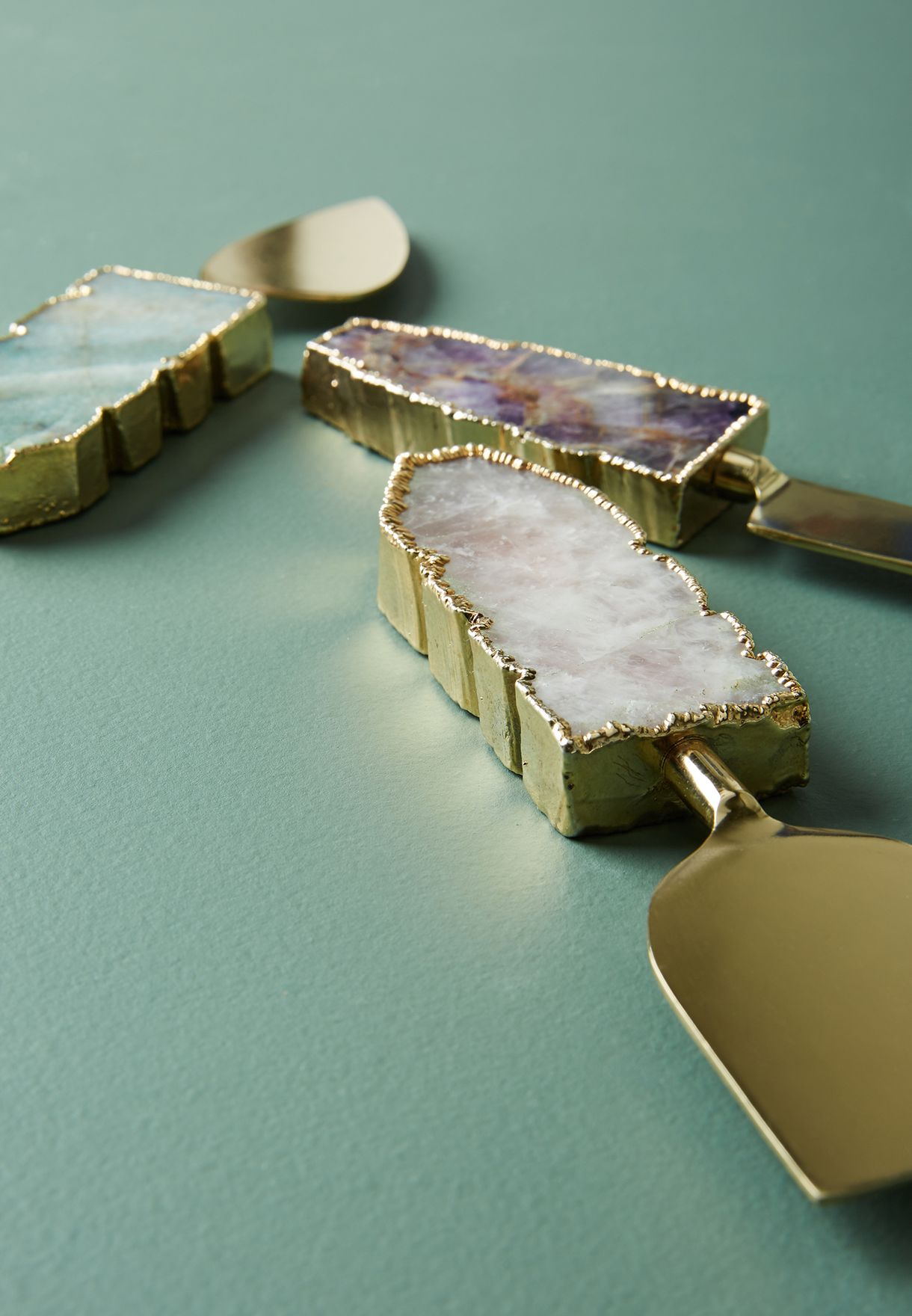 Agate Cheese Knives