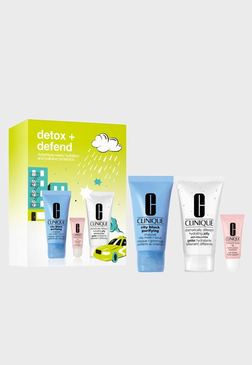 Pollution Proof Skin Detox + Defend Kit,Saving 48%