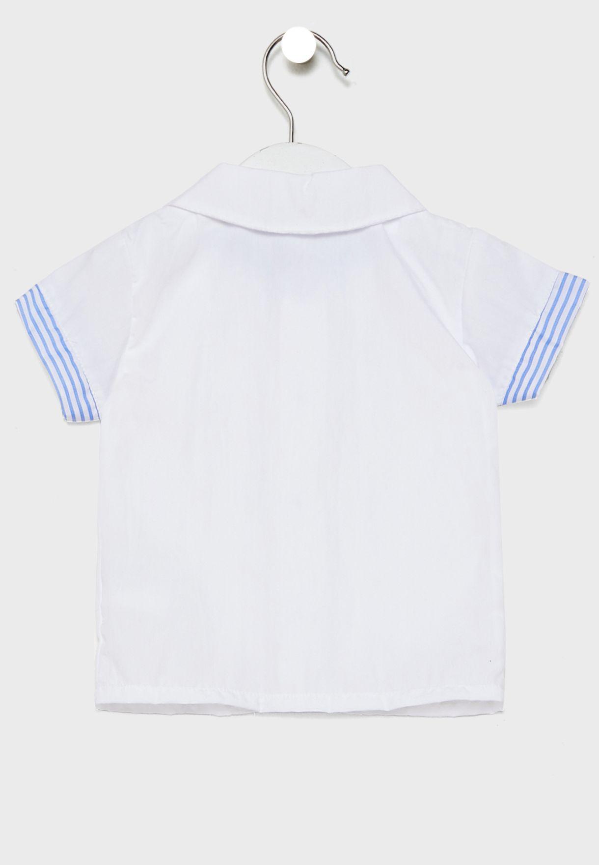 طقم (دنغري+ قميص بازرار )