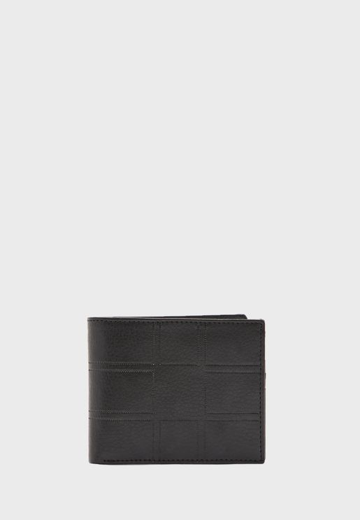 Leatherette Wallet with 9 Card Slots and Coin Pock