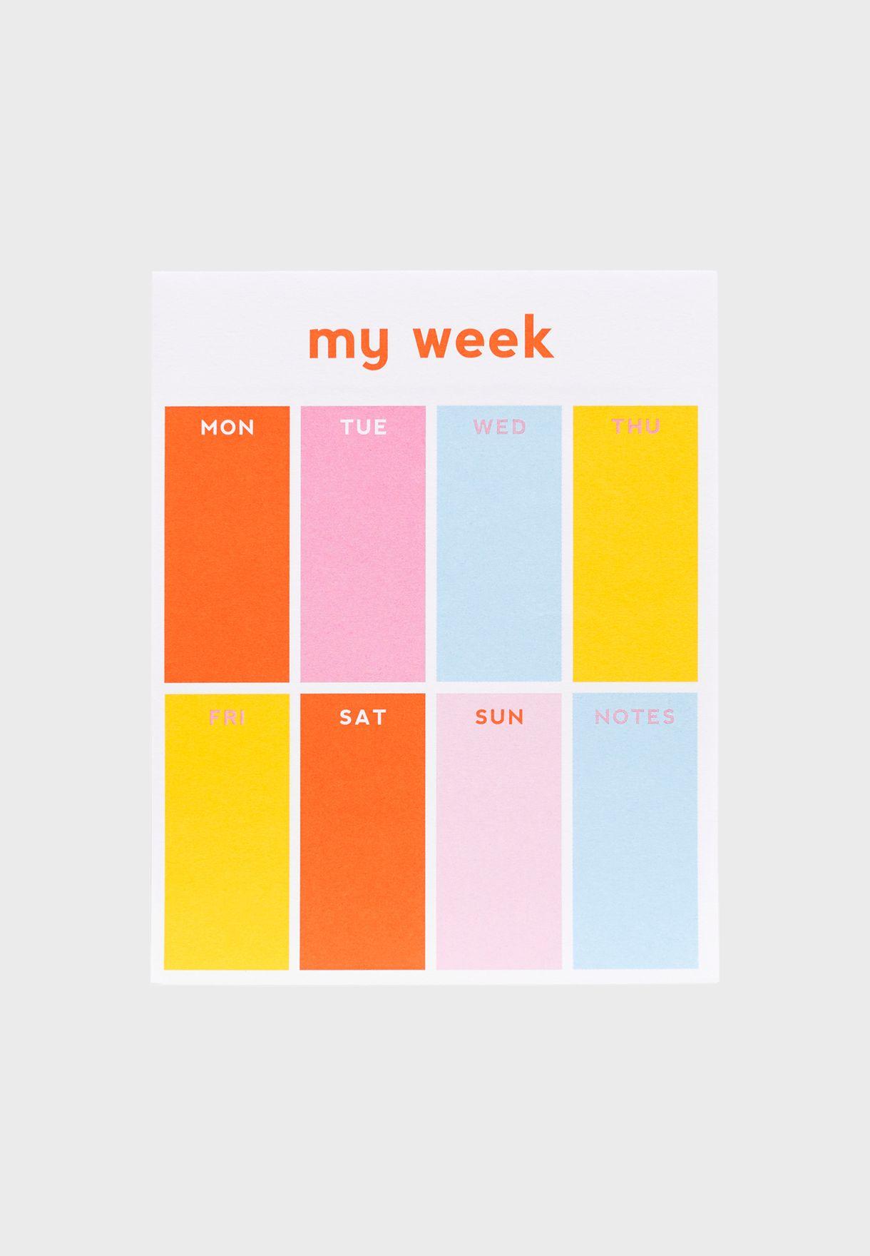 دفتر تخطيط اسبوعي صغير