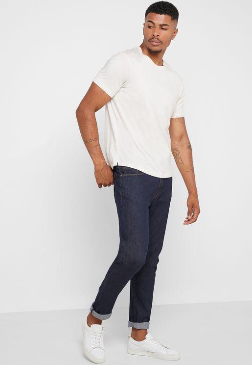 Denim Tapered Fit Jeans
