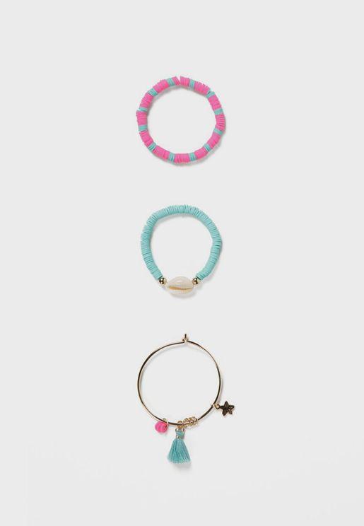 Kids 3 Pack Sea Elements Bracelet