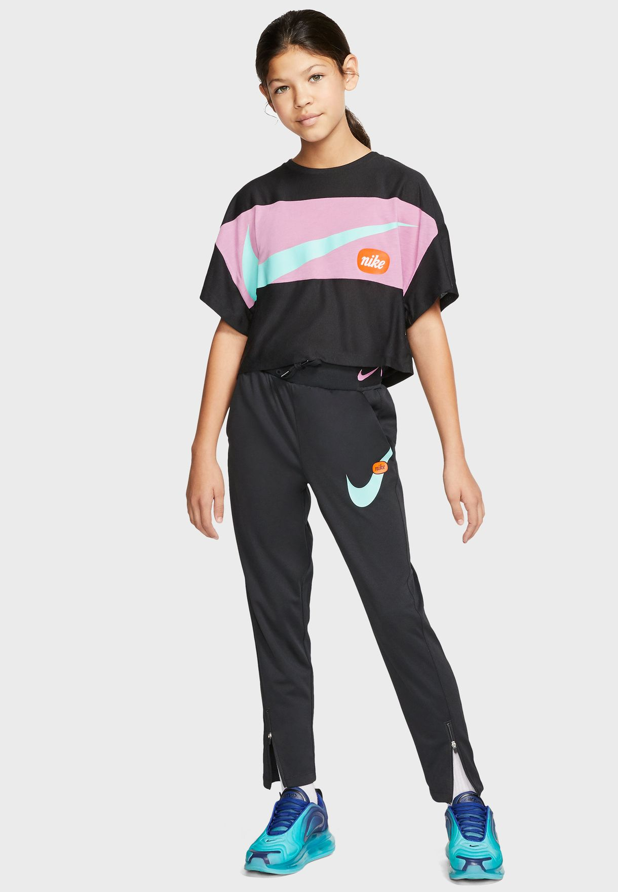 Youth Swoosh Cropped T-Shirt