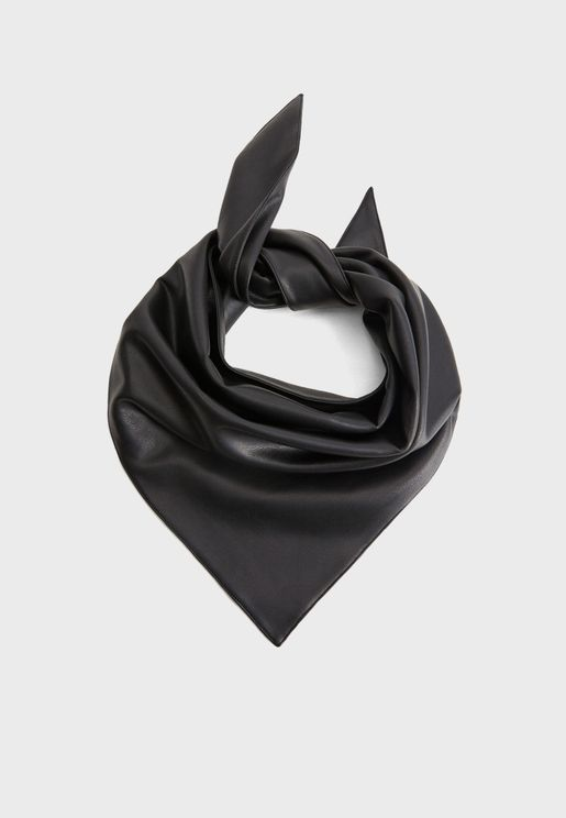 Macondo Faux Leather Scarf