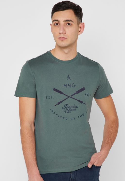 League H Crew Neck T-Shirt