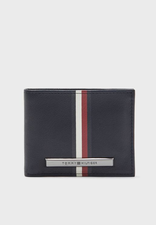 Corp Plaque Stripe Credit Card Holder
