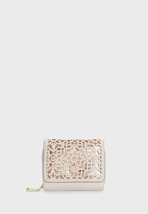Compact Openwork Detail Purse