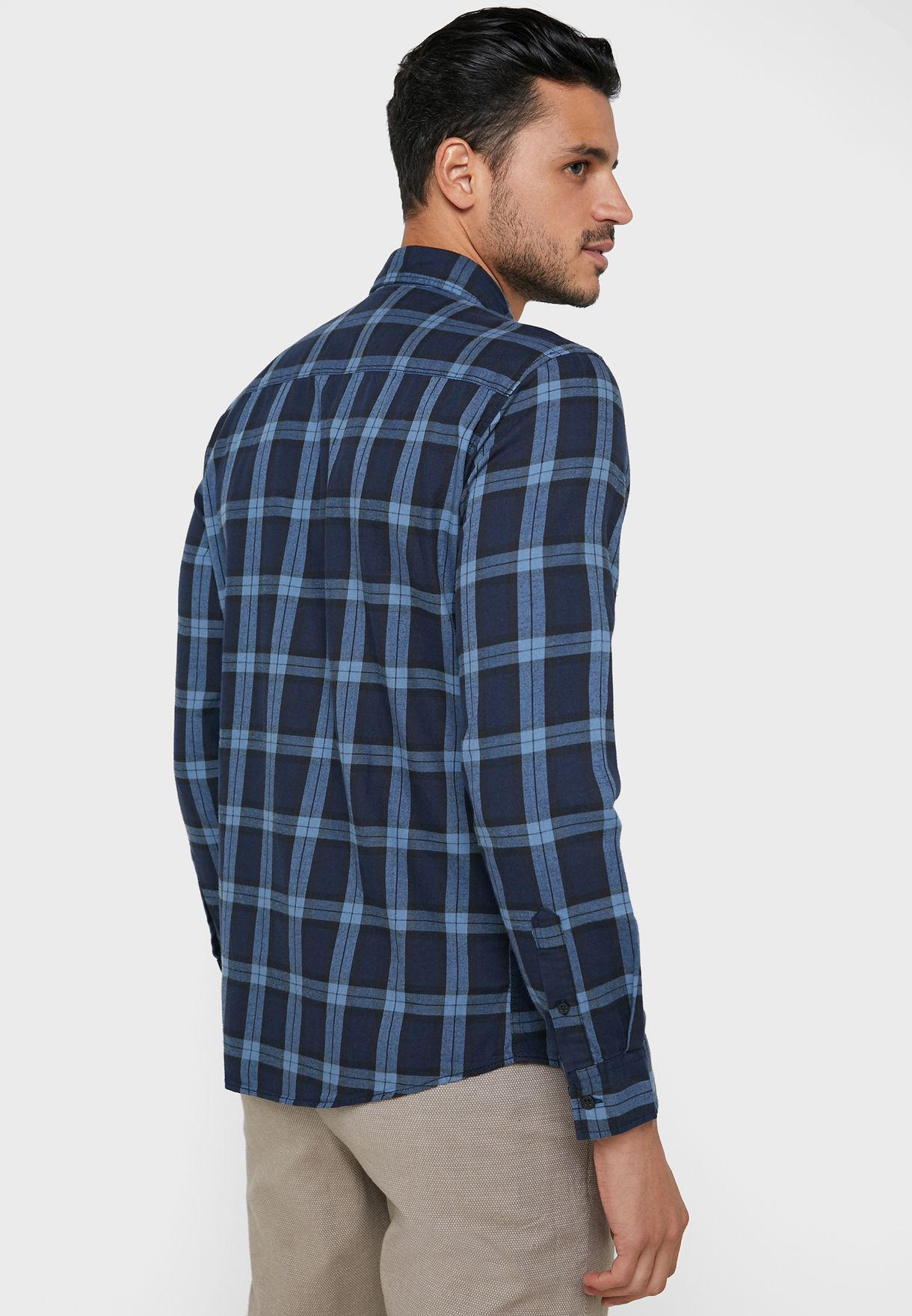 Mahone Checked Slim Fit Shirt