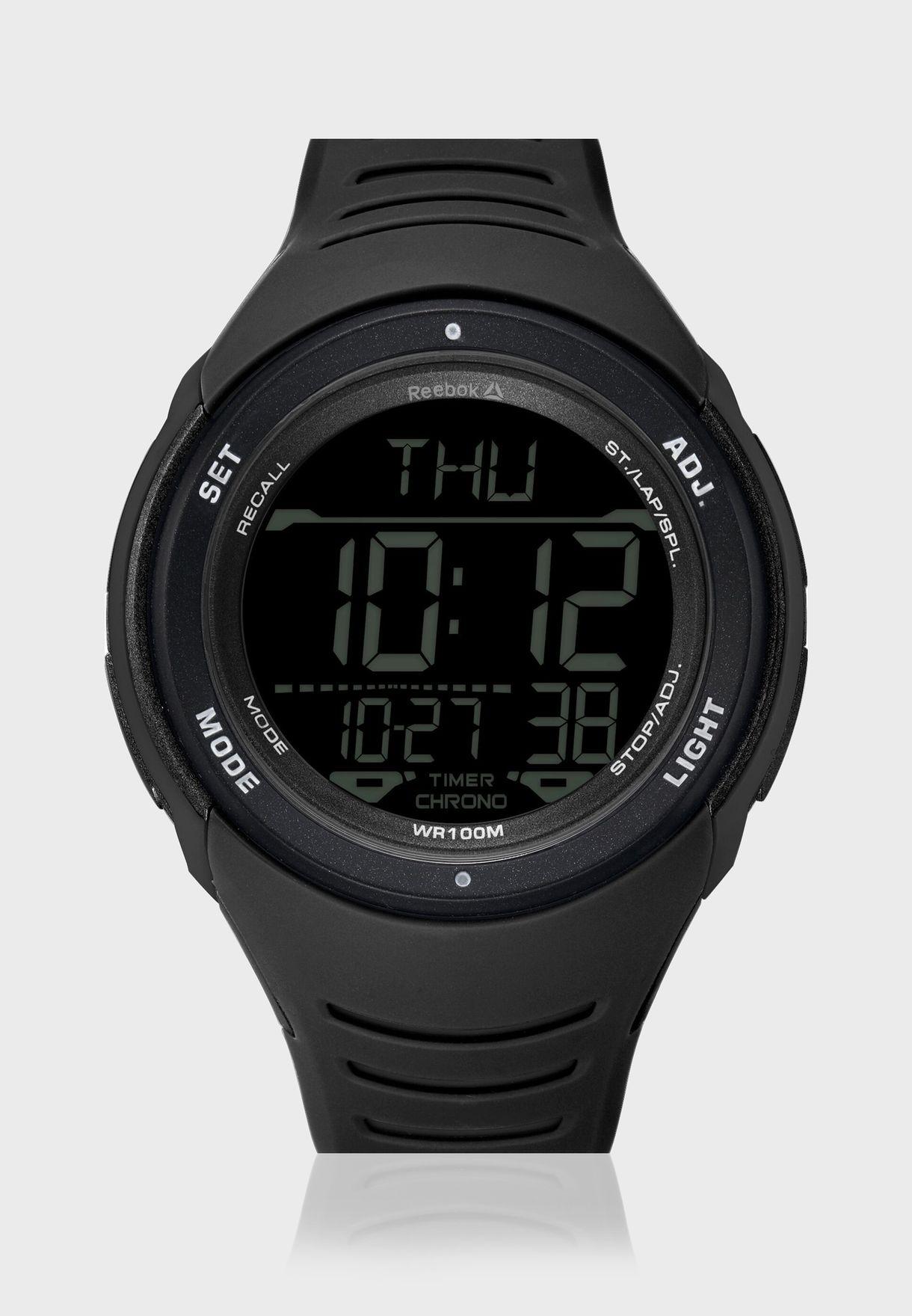 ساعة ذكية بحزام من السيليكون