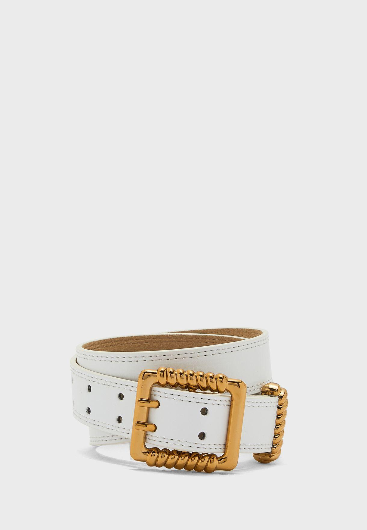 Twisted Detail Buckle Belt
