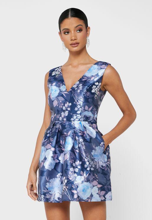Zarya Printed Dress