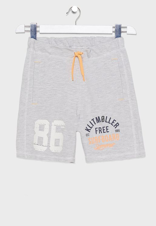 Youth Tie Waist Detail Sweat Shorts
