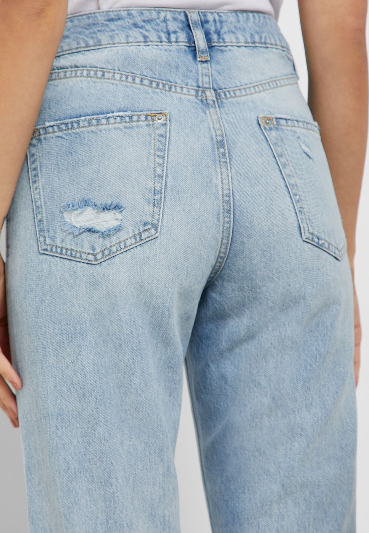 Light Wash High Rise Vintage Straight Jeans