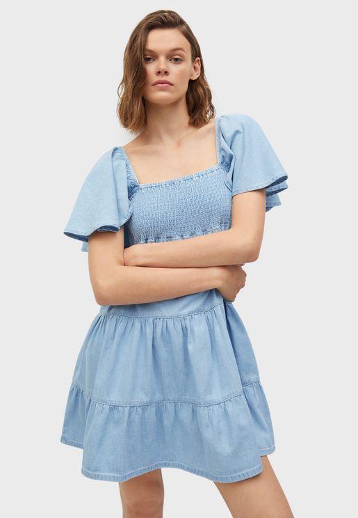Tiered Hem Shift Dress