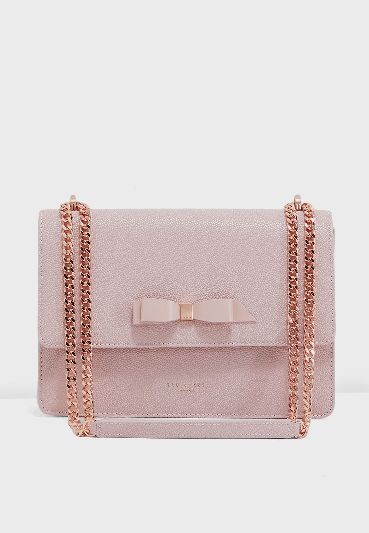 08b2d4a734bb Shop Ted baker pink Joanaa Bow Detail Crossbody 151189 for Women in ...