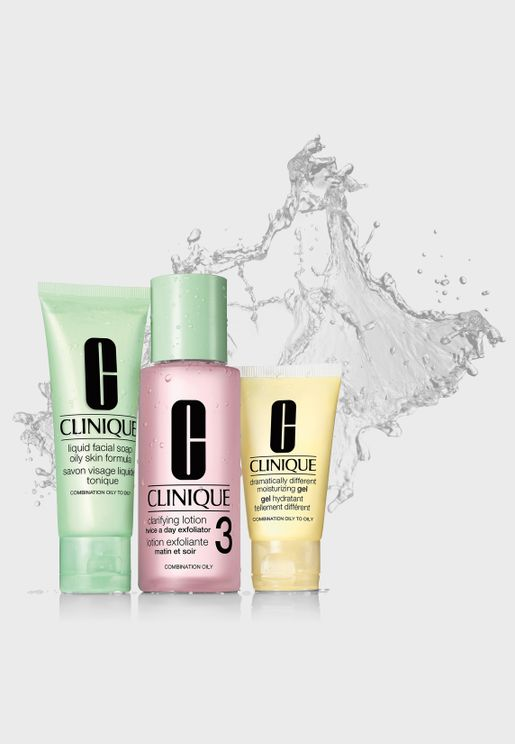 3 Step Skin Care Set - Combination To Oily Skin