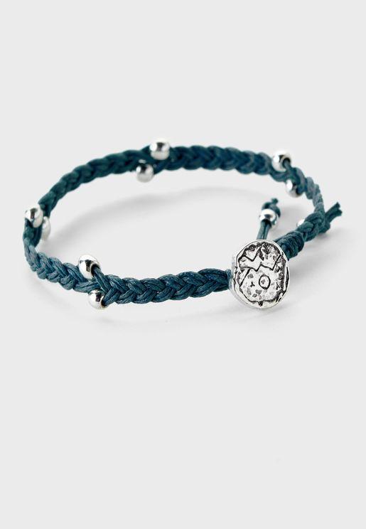 Mountainous Plaited Bead Bracelet