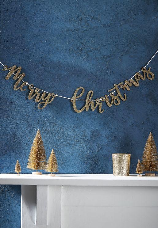 """عبارة لامعة """"Merry """"Christmas"""