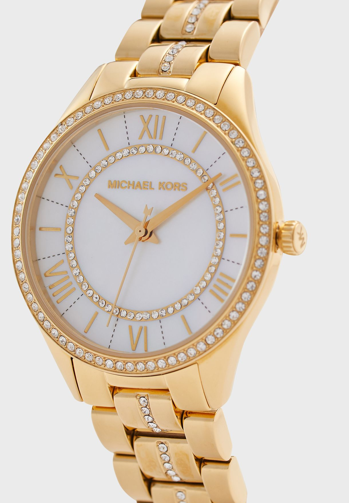 Lauryn Crystal Mother of Pearl Dial Watch
