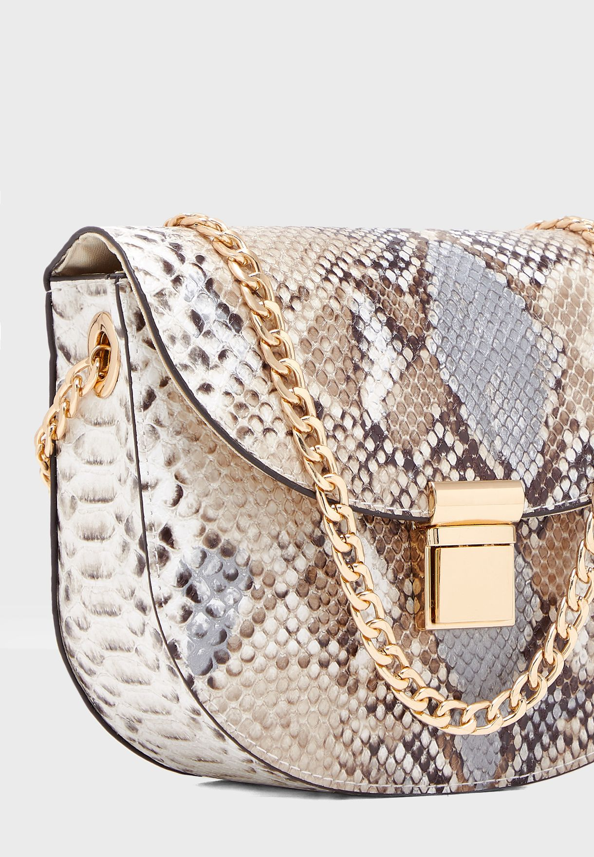 Susie Snake Saddle Crossbody