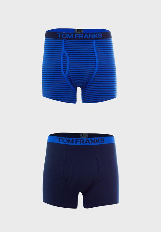 2 Pack Keyhole Boxers Shorts